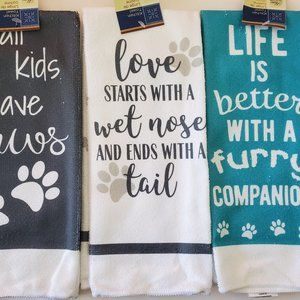 Other - Kitchen Towels, Pet Dog Decor, Set of 3